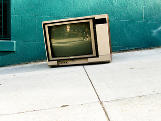 Television on the pavement