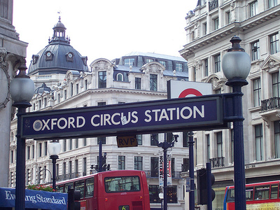Entrance to Oxford Circus station