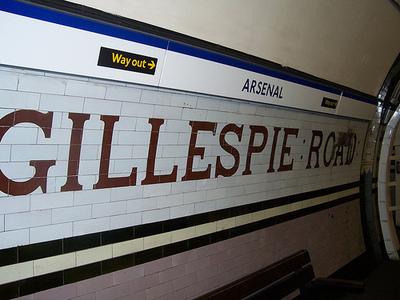 Station sign at Arsenal