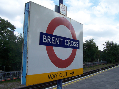 Station sign at Brent Cross